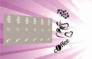 Airbrush šablona káva 03