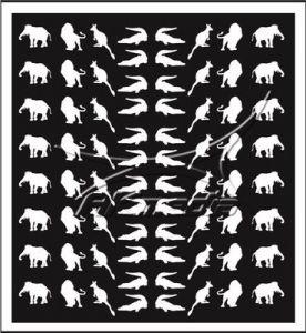 Samolepka pro nail art animal 01 bílá