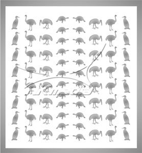 Samolepka pro nail art animal 05 stříbrná AKmedia