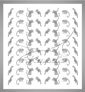 Samolepka pro nail art animal 06 stříbrná AKmedia