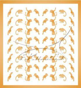 Samolepka pro nail art animal 06 zlatá