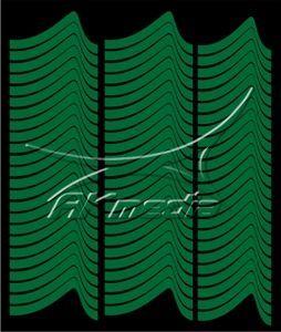 Samolepka pro nail art francie 02 tmavá zelená