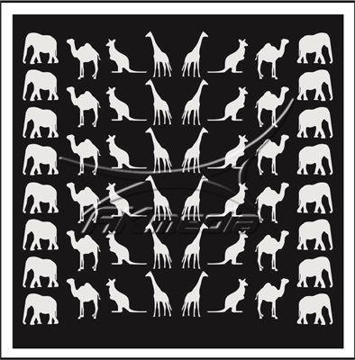 Samolepka pro nail art animal 02 bílá AKmedia