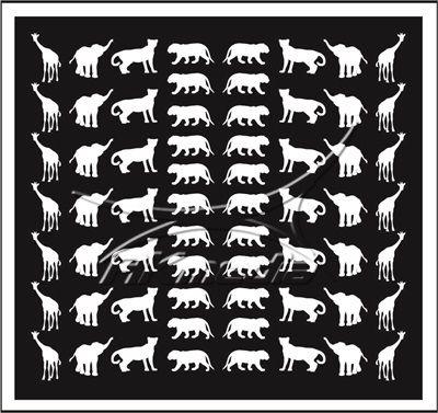 Samolepka pro nail art animal 03 bílá AKmedia
