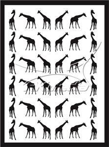 Samolepka pro nail art animal 04 černá AKmedia