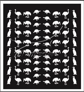 Samolepka pro nail art animal 05 bílá AKmedia