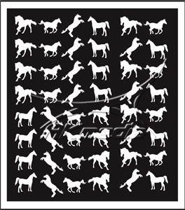 Samolepka pro nail art animal 07 bílá AKmedia