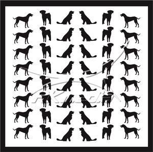 Samolepka pro nail art animal 09 černá AKmedia