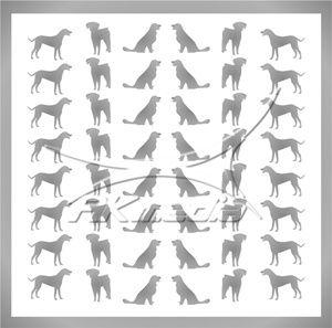 Samolepka pro nail art animal 09 stříbrná AKmedia