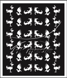 Samolepka pro nail art animal 10 bílá AKmedia