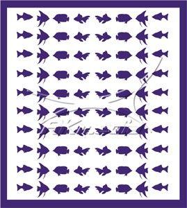 Samolepka pro nail art animal sea 02 fialová AKmedia
