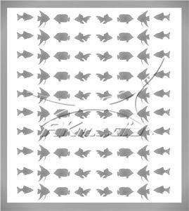 Samolepka pro nail art animal sea 02 stříbrná AKmedia