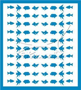 Samolepka pro nail art animal sea 02 světlá modrá AKmedia