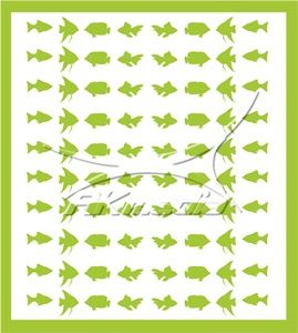 Samolepka pro nail art animal sea 02 světlá zelená AKmedia