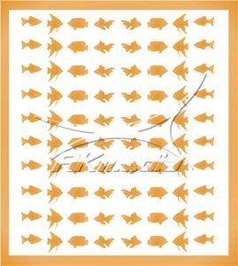 Samolepka pro nail art animal sea 02 zlatá AKmedia