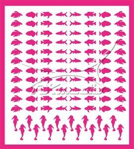 Samolepka pro nail art animal sea 03 pink AKmedia