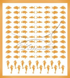 Samolepka pro nail art animal sea 03 zlatá AKmedia