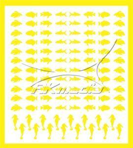 Samolepka pro nail art animal sea 03 žlutá