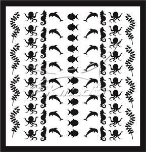 Samolepka pro nail art animal sea 04 černá AKmedia