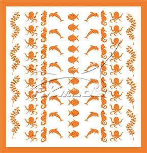 Samolepka pro nail art animal sea 04 oranžová AKmedia