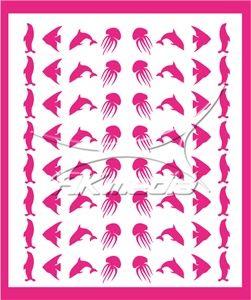 Samolepka pro nail art animal sea 05 pink AKmedia