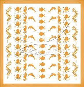 Samolepka pro nail art animal sea 04 zlatá AKmedia