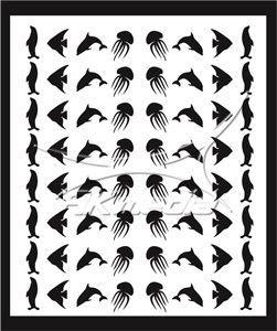 Samolepka pro nail art animal sea 05 černá