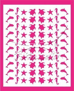 Samolepka pro nail art animal sea 06 pink AKmedia