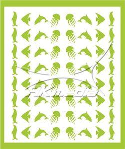 Samolepka pro nail art animal sea 05 světlá zelená AKmedia
