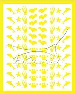 Samolepka pro nail art animal sea 01 žlutá