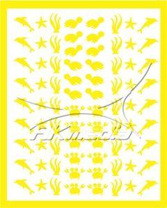 Samolepka pro nail art animal sea 01 žlutá AKmedia