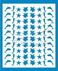 Samolepka pro nail art animal sea 06 světlá modrá AKmedia