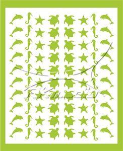 Samolepka pro nail art animal sea 06 světlá zelená AKmedia