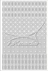 Samolepka pro nail art creativ čtverce bílá AKmedia