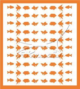 Samolepka pro nail art animal sea 02 oranžová AKmedia