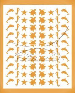 Samolepka pro nail art animal sea 06 zlatá AKmedia