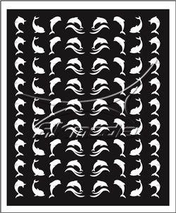 Samolepka pro nail art animal sea 07 bila AKmedia