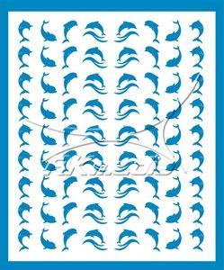 Samolepka pro nail art animal sea 07 světlá modrá AKmedia