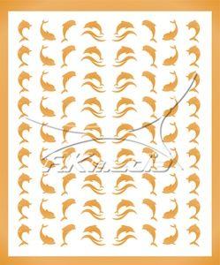 Samolepka pro nail art animal sea 07 zlatá AKmedia