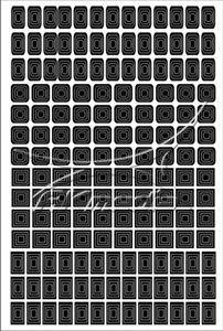 Samolepka pro nail art creativ čtverce černá