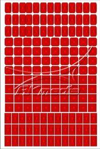 Samolepka pro nail art creativ čtverce červená AKmedia