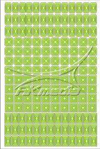 Samolepka pro nail art creativ čtverce světlá zelená