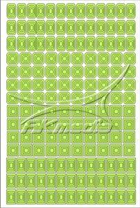 Samolepka pro nail art creativ čtverce světlá zelená AKmedia