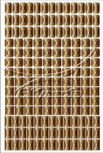 Samolepka pro nail art creativ čtverce zlatá
