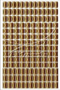 Samolepka pro nail art creativ čtverce zlatá AKmedia