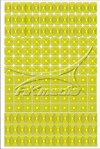 Samolepka pro nail art creativ čtverce žlutá