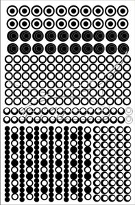 Samolepka pro nail art creativ kolečka černá AKmedia