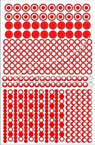 Samolepka pro nail art creativ kolečka červená AKmedia