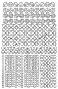 Samolepka pro nail art creativ kolečka stříbrná AKmedia