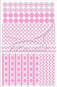 Samolepka pro nail art creativ kolečka světlá růžová AKmedia